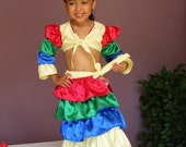 Unique Chiquita Banana/Carmen Miranda Halloween Costume for Toddler Girl Size 12m - 5