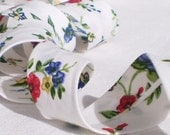 Bias Tape Binding - Wildflower Meadow - 4 Yards Handmade Floral Cotton Fabric