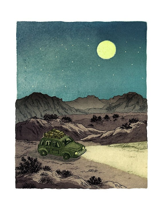 Moon night drive