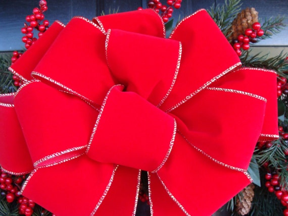 10 Christmas Bows for Outdoor Decorations, Bulk Christmas Bows, Multiple Bow Discount, Christmas Wreath Bows, Christmas Decor