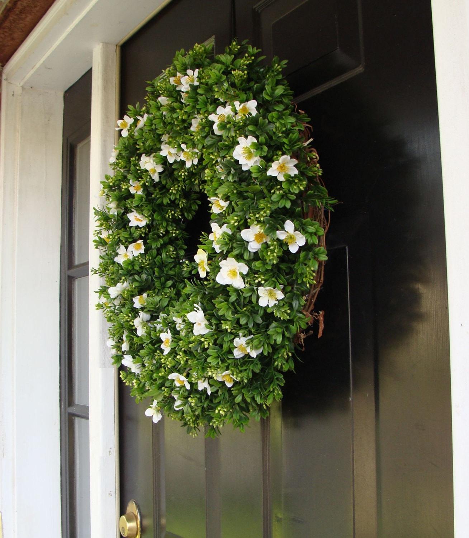 Custom size artificial boxwood wreath spring by elegantwreath