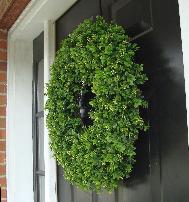 Year Round Wreath Artificial Boxwood Door Wreath Front Door