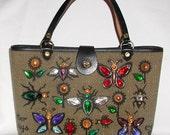 ENID COLLINS.......... glitter bugs vintage handbag