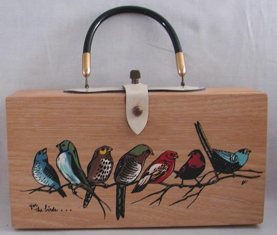 Enid Collins Vintage Purse ... for the birds ..HANDBAG.