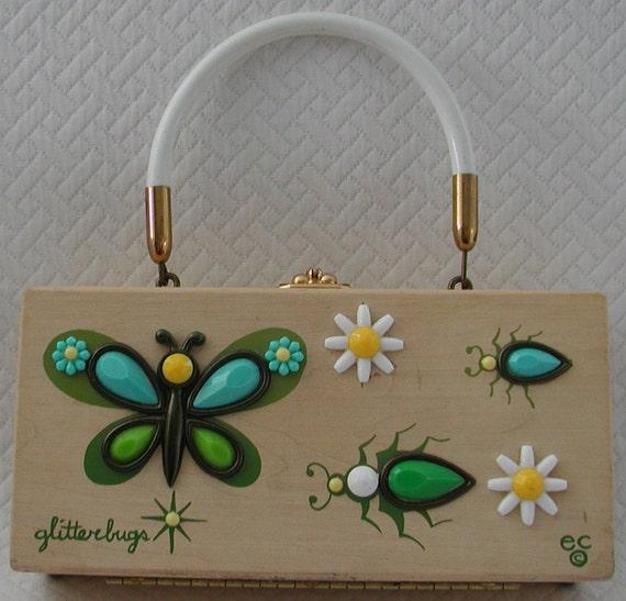 """RESERVED....ENID COLLINS Vintage Handbag...  """"Glitterbugs"""""""