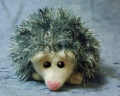 Heloise the Hedgehog, knit and felted stuffed animal