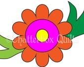 Applique Template in Downloadable Format - Sarah Flower