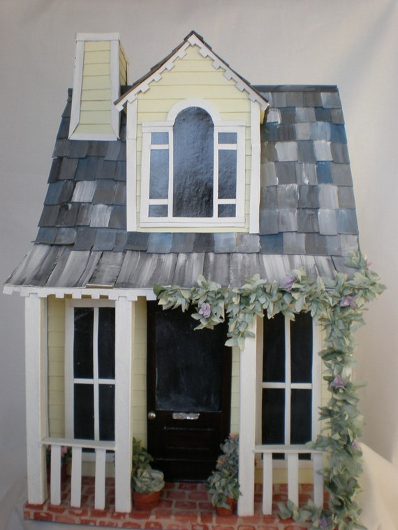 Miniature Farm Paper House Cottage By Cinderellamoments On