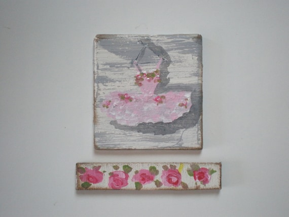 Tutu and Roses Painting  Dollhouse 1 Inch Scale Handpainted