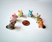 Little Brown Ceramic Mouse: ceramic animal, little animal, tiny animal, small animal, tiny mouse, hamster, miniature mice, mini mouse
