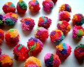 Party Yarn Pom Pom, cotton pom pom, yarn ball, pompom, party decoration, party, flower, yarn button, 200 poms, carnival, SALE, discount