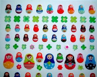 Matryoshka Sticker: Cute Kawaii Sticker from Japan, cute sticker, card decoration, decoration, Russian, doll, seal, decor, iammie