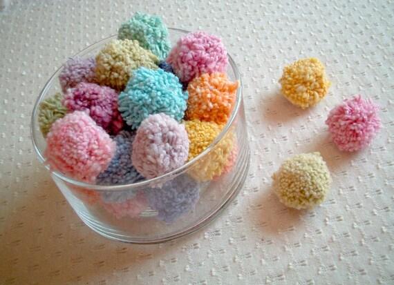 Party Pom pom, yarn pom pom, cotton, yarn ball, beads, decoration, eco, party decoration, button, pompom, iammie, soft, 50 pom pom