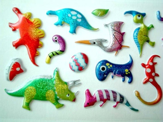 Cute stickers, Kawaii Stickers, dinosaur, archeology, archaeology, card decoration, journal decoration, children, discounted, SALE, cheap