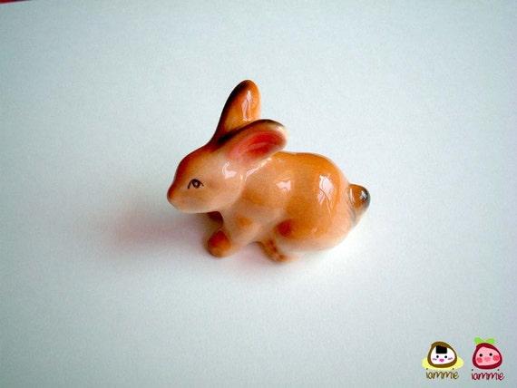 Ceramic Rabbit, bunny figure, miniature rabbit, ceramic bunny, hare, miniature bunny, ceramic animal, mini, little, totem, iammie