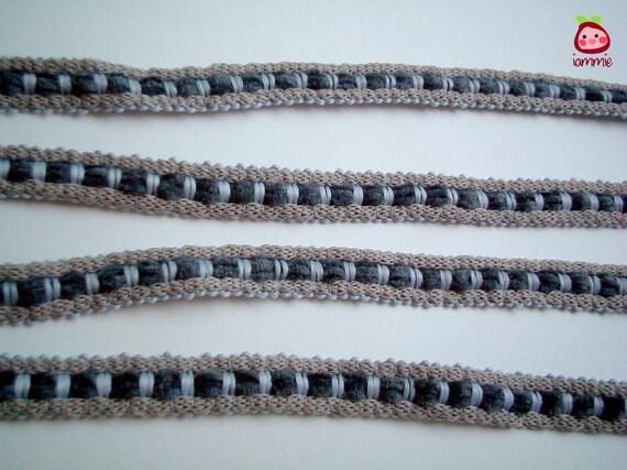 Grey Trim, Gray Trim, fabric trim, ribbon, lace, cotton, girl, boy, card decoration, gift wrap, iammie, 2 yard, 1/2 inch wide