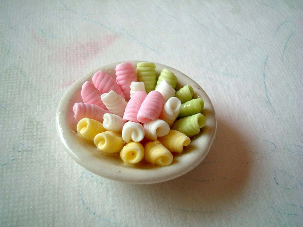 Dollhouse Miniature Polymer Clay Food Thai Sweets On A
