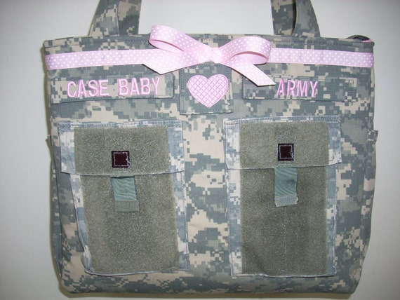 Army diaper bag military bag camo diaper bag daddy diaper bag Gift for her unique gift handmade custom embroidery  personalized customized