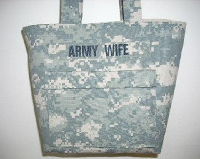 Personalized Army Wife Handbag