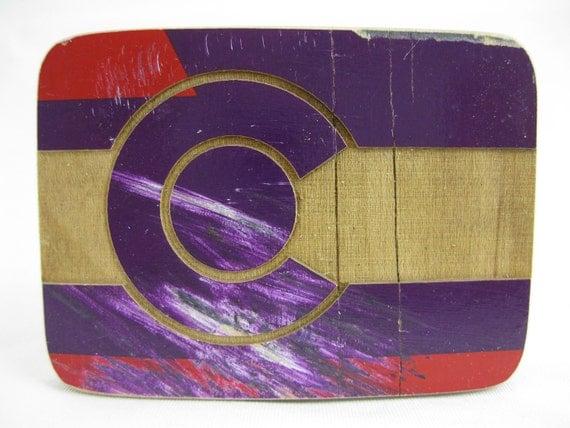 Reclaimed Skateboard Beltbuckle (KICKFLIP)
