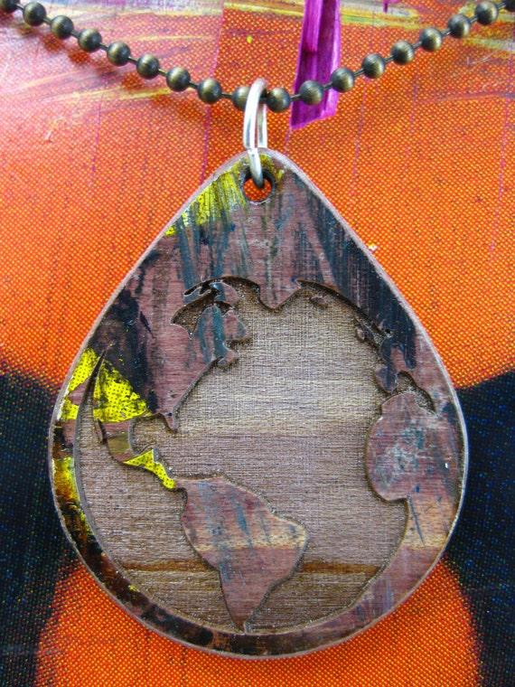 Reclaimed Skateboard Necklace