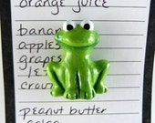 Frog fridge magnet - cute fridge magnets, handmade kitchen decor, locker magnets, office magnets, refrigerator magnets, fridge decoration