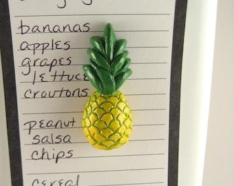 Pineapple magnet - cute fridge magnets, fruity kitchen decor, miniature food