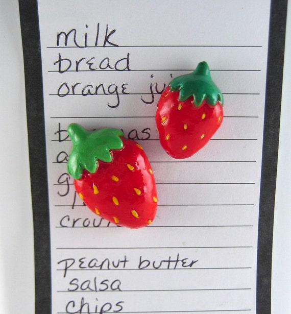 Https Www Etsy Com Listing 101923895 Strawberry Magnets Cute Fridge Magnets