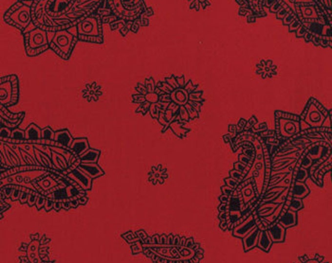 Moda King of The Ranch Red Buckskin cotton western fabric