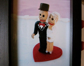 Day of the Dead Los Novios (The Lovers) Photo Shrine and Frame- original  photograph