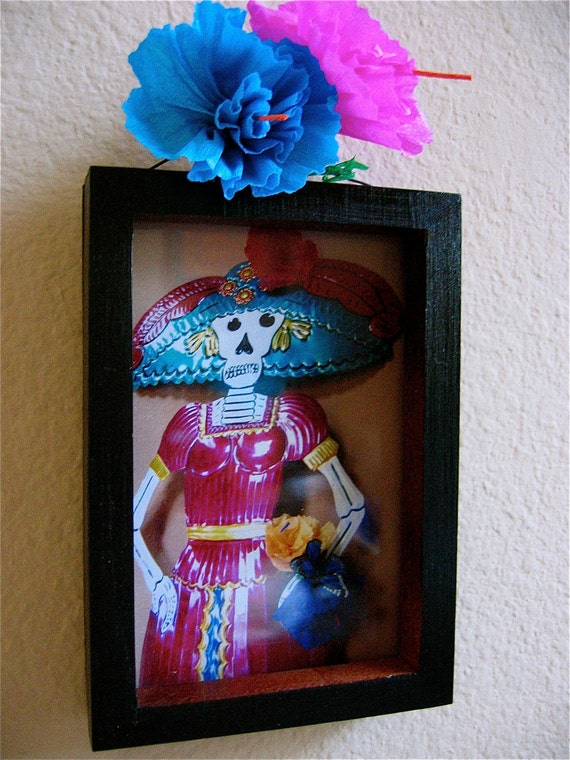 Sale- Day of the Dead Calavera (skull) Photograph Shrine- Perfect for your altar