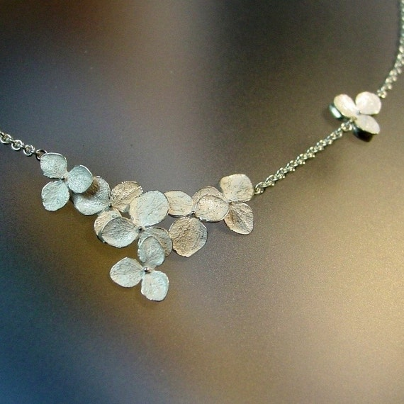 Hydrangea Cluster Necklace
