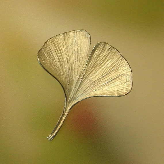 Versatile Ginkgo Leaf Pin can also be worn as a pendant