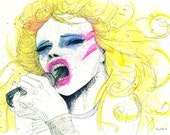 Hedwig and the Angry Inch splatter ink print