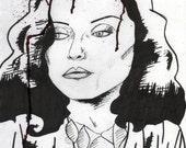 Debbie Harry Ink Drawing (VIDEODROME)