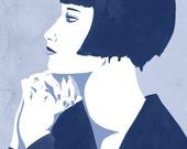 Louise Brooks Digital Portrait Print