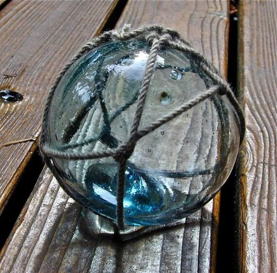 Glass Fishing Float Vintage Collectible, River Tale, Nautical, Home Decor, Ocean, Beach Decor, Cottage, Fishing, Garden Decor, Sea, Japanese
