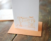 sewing machine cards - set of 4