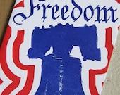 Letterpress Greeting Card - Freedom Liberty Bell (single)