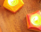 Autumn Glowing Luminaria-Candle Holder (set of two)/ Waldorf  Nature Table/Natural Home Decor