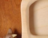 waldorf postcard frame/  handcarved wood picture portrait frames (vertical) -- made to order