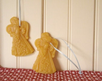 angel beeswax ornaments (set of 3)
