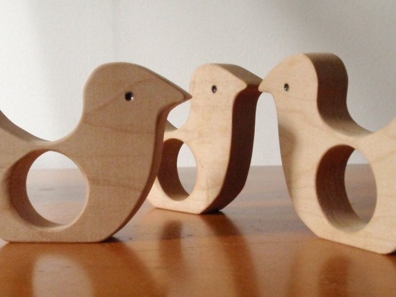 at babys farm / Little Chick Wood Teether / for Baby and Toddler