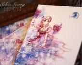 Serenity. sailormoon anime princess manga moon watercolor art print