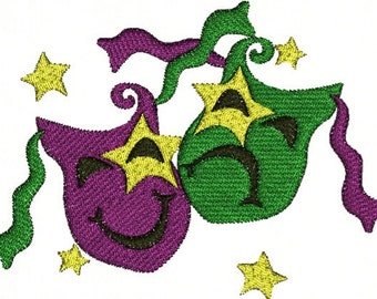 Mardi Gras Party Parade Festival Machine Embroidery Designs Instant Download Sale