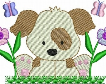 Cute Puppy Dogs Animals Machine Embroidery Designs Instant Download Sale