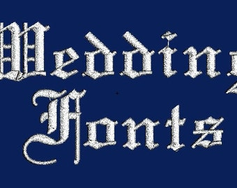Elegant Wedding Machine Embroidery Monogram Designs Set Instant Download Sale