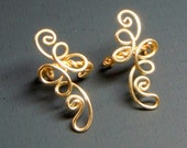 Loop de loop pair of earcuffs