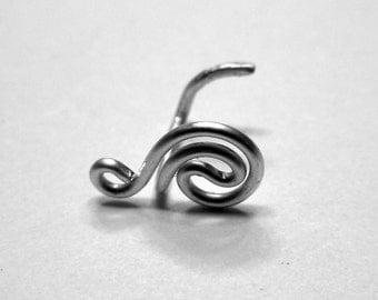 Spiral Wave Nose Ring