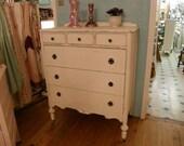 antique shabby chic dresser white distressed tall SOOO PRETTY